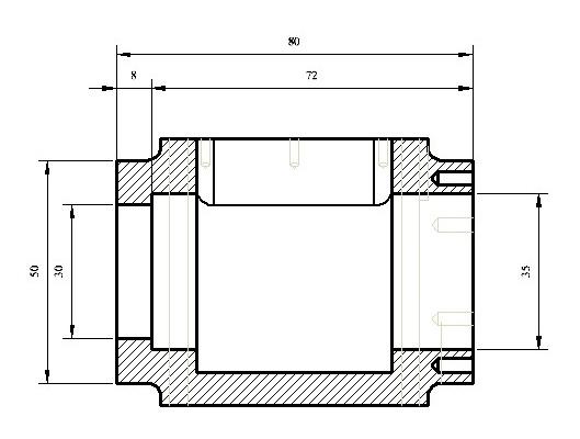 Wassertank Zeichnung